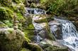 Zénitude au bord de la cascade du ruisseau d'Audiernes à Peyrusse-le-Roc