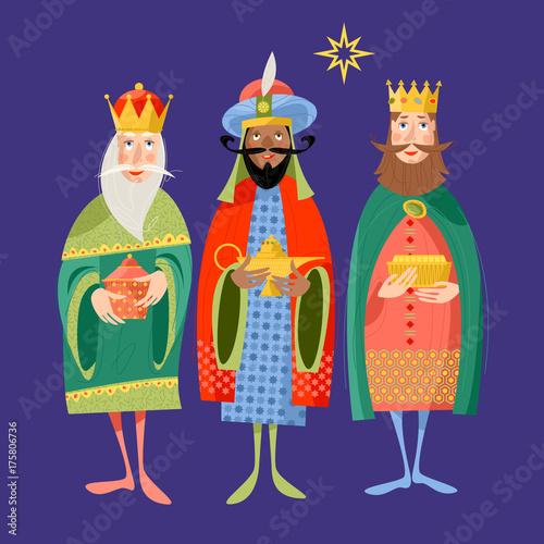 Three biblical Kings: Caspar, Melchior and Balthazar Wallpaper Mural