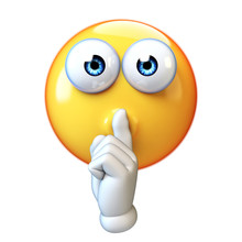 Emoji Making Silence Hand Gest...