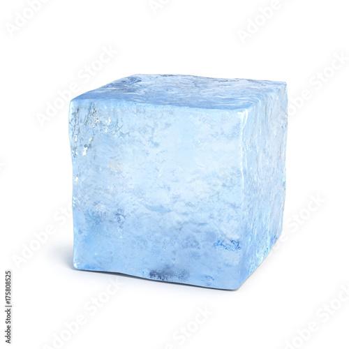 Ice block 3d rendering © koya979