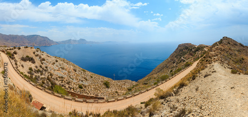 Cadres-photo bureau Cote Mediterranean Sea coastline (Cartagena, Spain).