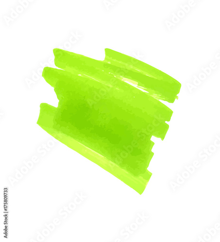 Finding Some Spots Of Bright Color At >> Light Green Color Highlight Stripe Banner Drawn With Japan Marker