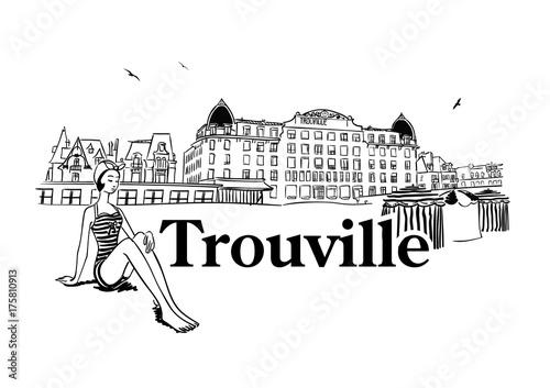 Trouville sur Mer Canvas Print