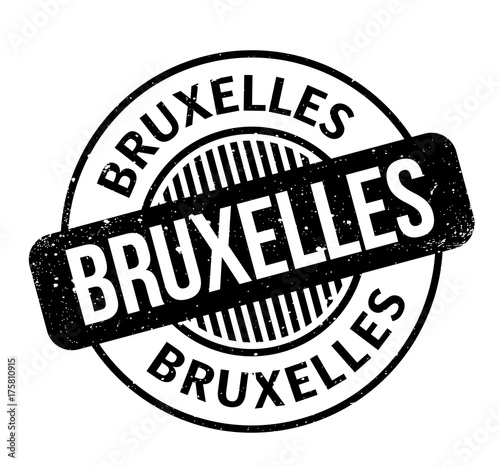 Bruxelles Rubber Stamp Grunge Design With Dust Scratches Effects Can Be Easily Removed For