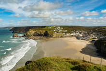 Portreath Beach And Countryside Cornwall