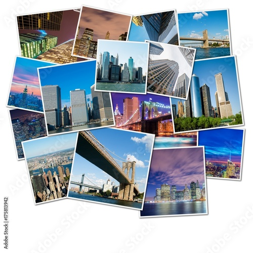 Collage of New York photos Poster