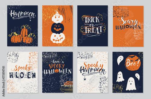 Fotografia, Obraz  Halloween cards set