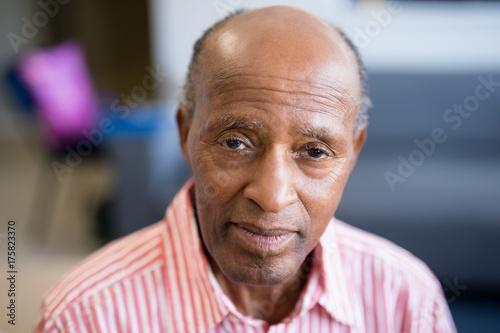 Fotografia, Obraz  Portrait of senior man with receding hairline