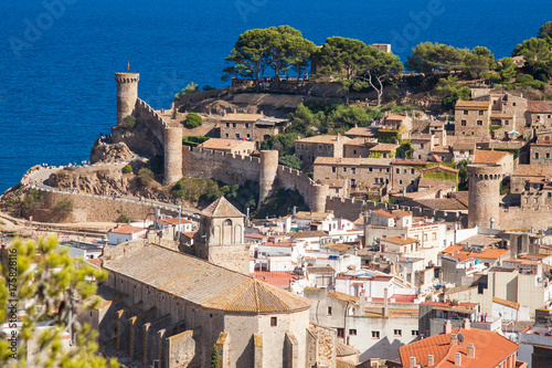 View of the old town of Tossa de mar one of the most beautiful city on the Costa Brava Wallpaper Mural