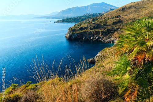 Spoed Foto op Canvas Mediterraans Europa Zingaro sea coast, Sicily, Italy