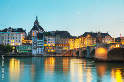 Basel cityscape in Switzerland