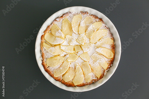 Fotografie, Obraz  pastry cream pie with apples