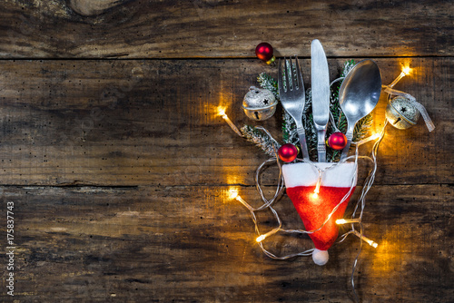 Festive Christmas table setting