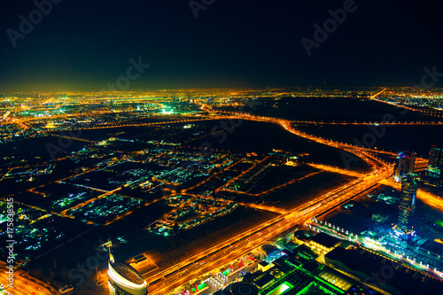 Obraz na dibondzie (fotoboard) Downtown Dubai At Night