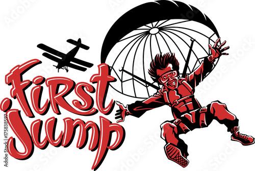 Fototapeta first jump