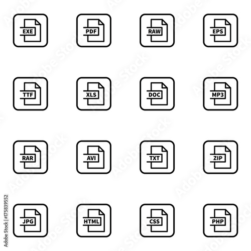 set of document formatting vector thin line icons buy this stock