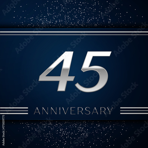 Photographie  Realistic Forty five Years Anniversary Celebration Logotype