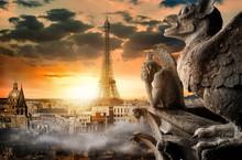 Cloudy Sky Over Paris