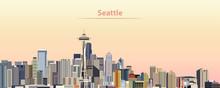 Vector Illustration Of Seattle...