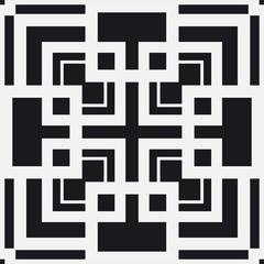 Black and white art deco ornamental background. Template for design. Vector illustration eps10