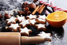 Baking Christmas Cookies. Typi...