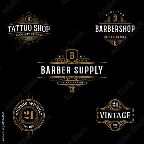 Vector vintage frame for logo, label design. Ornate logo template ...