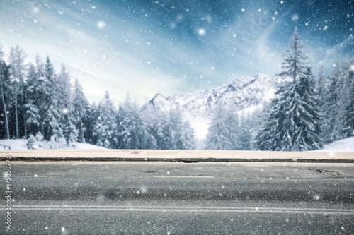 Zdjęcie XXL zimowa droga