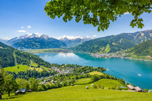 Idyllic Alpine Landscape, Zell Am See, Pinzgau, Austria