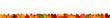 canvas print picture - Bunte Herbstblätter als Bordüre oder Banner