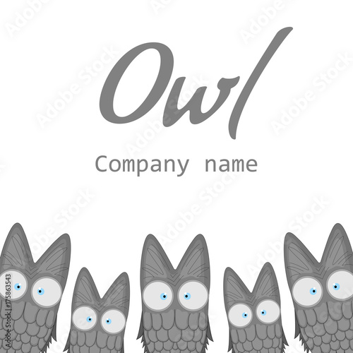 templates for the company the logo with the owl banner with cute