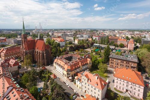 Obraz na dibondzie (fotoboard) Stare miasto panorama pejzaż, Wrocław, Polska