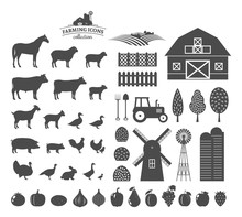 Vector Farming Icons And Design Elements
