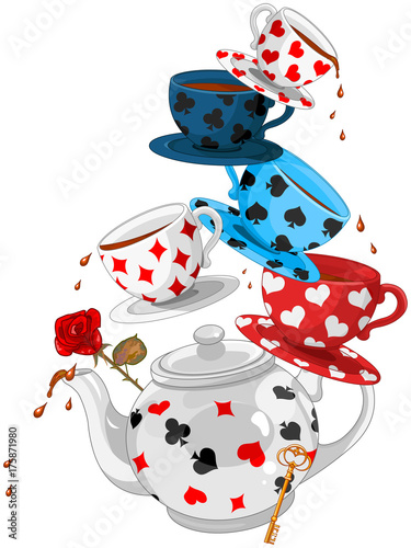 Tuinposter Sprookjeswereld Wonder Tea Party Pyramid
