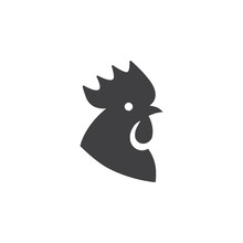 Black Cock Head Icon