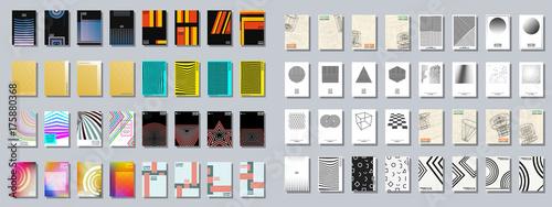 Cuadros en Lienzo Set of trendy various geometric cover brochure