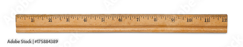 Fotografie, Obraz Antique Wood Ruler