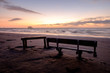 Bench and Table on Beach