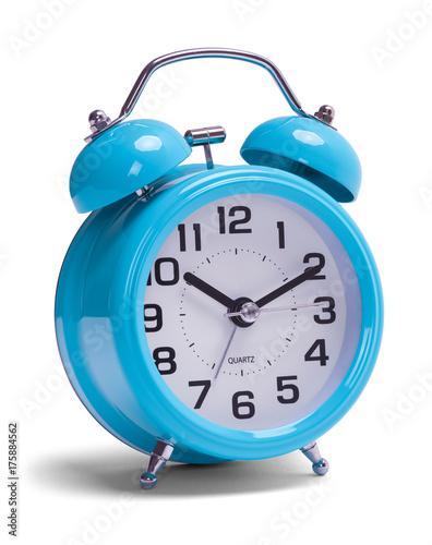 Blue Alarm Clock Canvas Print