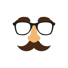 Glasses, Nose Mask. Vector. Is...