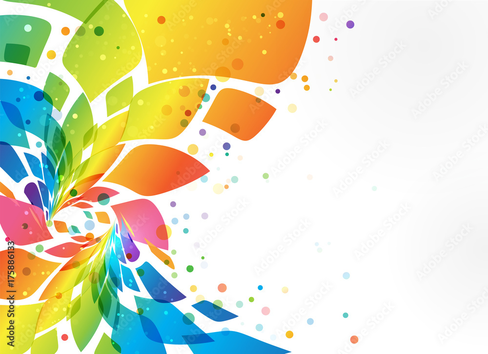 Fototapety, obrazy: Abstract background, colorful element on white background