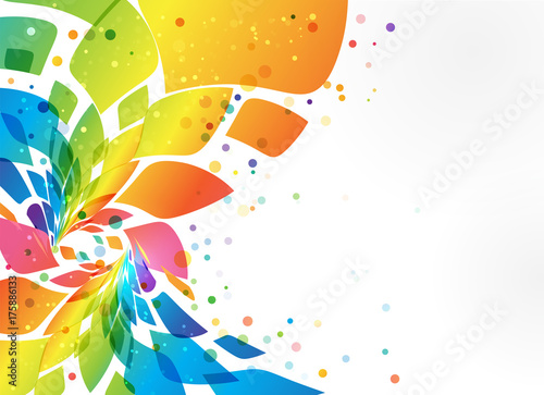 Fototapeta Abstract background, colorful element on white background obraz