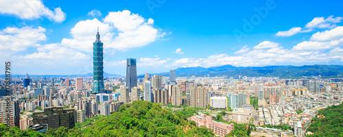 Fototapeta premium panorama miasta tajpej