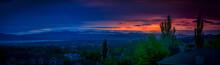 Amazing Sunset Along The Wasatch Mountain Range In Utah