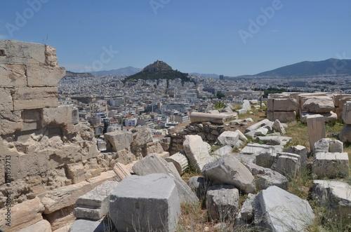 Obraz na dibondzie (fotoboard) Ateny i wzgórze Lykavittos widziane z Akropolu w Atenach