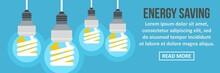 Energy Saving Banner Horizontal Concept