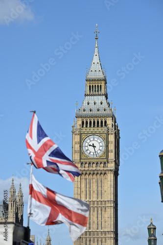 Fototapeta Londyn Anglia Angielski Brexit UE UE Brytyjska Europa Londyn Funt szterling Euro Big Ben Parlament Westminster Union Jack