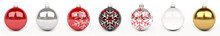 Colorful Christmas Bauble 3D Rendering