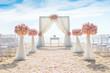 canvas print picture - Romantic wedding ceremony on the beach