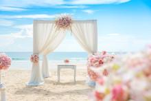 Romantic Wedding Setting On Th...