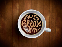 Coffee Cup With Time Lettering...